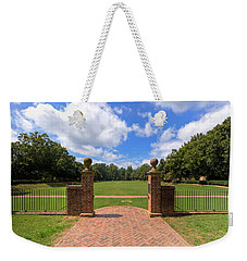 Weekender Tote Bag featuring the photograph Sunken Garden At William And Mary by Jerry Gammon