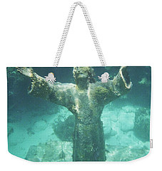 Weekender Tote Bag featuring the photograph Sunken Savior by Robert ONeil