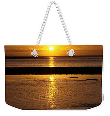 Weekender Tote Bag featuring the photograph Sunkist Sunset by Athena Mckinzie