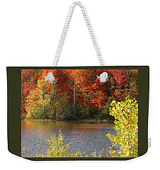 Weekender Tote Bag featuring the photograph Sunlit Autumn by Ann Horn