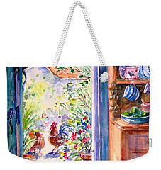 Sunlit Cottage Doorway  Weekender Tote Bag by Trudi Doyle