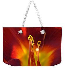 Sunlit Lily Weekender Tote Bag by David Porteus