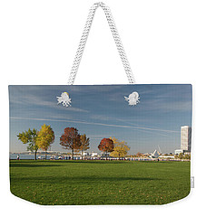 Weekender Tote Bag featuring the photograph Sunny Autumn Day by Jonah  Anderson