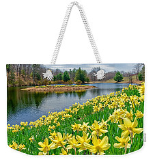 Sunny Daffodil Weekender Tote Bag by Bill Wakeley