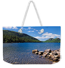 Sunny Day On Jordan Pond   Weekender Tote Bag by Lars Lentz