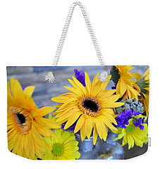 Weekender Tote Bag featuring the photograph Sunny Days by Ally  White
