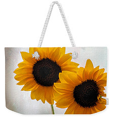 Sunny Flower On A Rainy Day Weekender Tote Bag