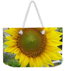Weekender Tote Bag featuring the photograph Bright Sunflower Happiness by Belinda Lee