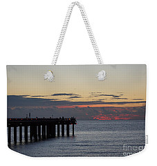 Weekender Tote Bag featuring the photograph Sunny Isles Fishing Pier Sunrise by Rafael Salazar