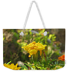 Sunny Marigold Weekender Tote Bag by Leone Lund