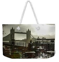 Sunny Rainstorm In London - England Weekender Tote Bag by Georgia Mizuleva
