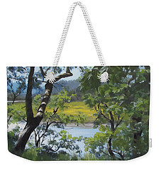 Sunny River Weekender Tote Bag