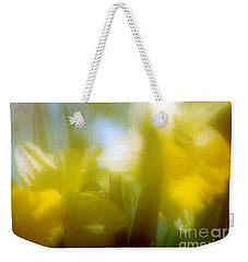 Weekender Tote Bag featuring the photograph Sunny Yellow Daffodils by Michael Hoard