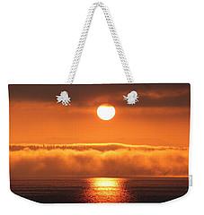 Sunrise And Fog Weekender Tote Bag by E Faithe Lester