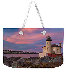 Sunrise At Coquille River Lighthouse Weekender Tote Bag