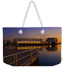 Weekender Tote Bag featuring the photograph Sunrise At The Lakefront by Jonah  Anderson