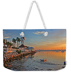 Sunrise At The Pier Weekender Tote Bag by HH Photography of Florida