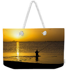 Sunrise Fishing Weekender Tote Bag
