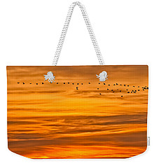 Sunrise Flight Weekender Tote Bag