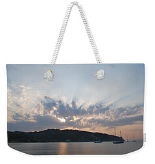 Weekender Tote Bag featuring the photograph Sunrise by George Katechis