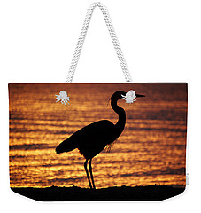 Weekender Tote Bag featuring the photograph Sunrise Heron by Leticia Latocki