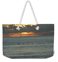 Weekender Tote Bag featuring the photograph Sunrise In Florida Riviera by Rafael Salazar