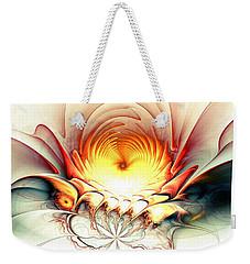 Weekender Tote Bag featuring the digital art Sunrise In Neverland by Anastasiya Malakhova