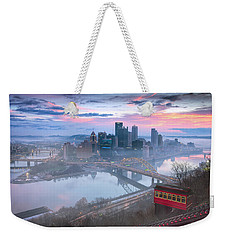 Pittsburgh Fall Day Weekender Tote Bag
