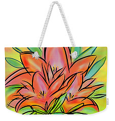 Sunrise Lily Weekender Tote Bag by Christine Fournier