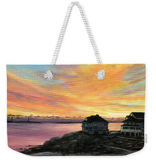 Sunrise Long Beach Rockport Ma Weekender Tote Bag by Eileen Patten Oliver