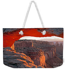 Sunrise Mesa Arch Canyonlands National Park Weekender Tote Bag