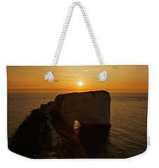 Sunrise Old Harry Rocks Weekender Tote Bag