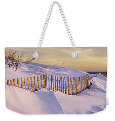 Sunrise On Beach Fence Weekender Tote Bag