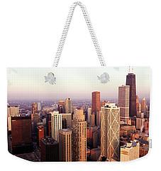 Sunrise On Chicago Weekender Tote Bag by Jon Neidert