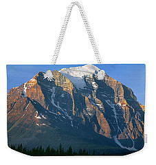 1m3518-sunrise On Mt. Temple Weekender Tote Bag