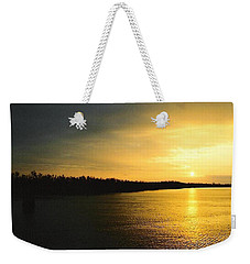 Weekender Tote Bag featuring the photograph Sunrise On Ole Man River by Michael Hoard