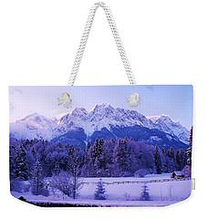 Sunrise On Snowy Mountain Weekender Tote Bag