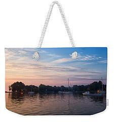 Sunrise On St. Michaels Md Harbor Weekender Tote Bag