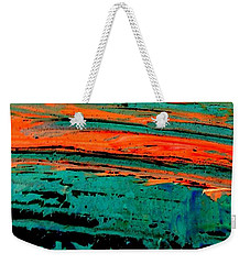 Weekender Tote Bag featuring the painting Sunrise On The Water by Jacqueline McReynolds