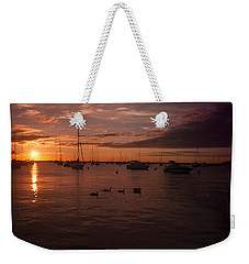 Sunrise Over Lake Michigan Weekender Tote Bag by Miguel Winterpacht