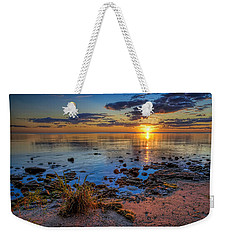 Sunrise Over Lake Michigan Weekender Tote Bag by Scott Norris