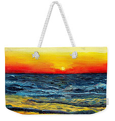 Weekender Tote Bag featuring the painting Sunrise Over Paradise by Shana Rowe Jackson
