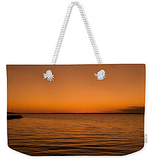Weekender Tote Bag featuring the photograph Sunrise Over The Lake Of Two Mountains - Qc by Juergen Weiss
