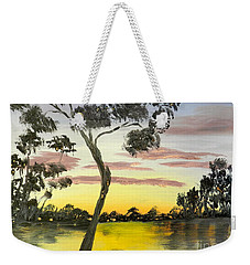 Sunrise Over The Murray River At Lowson South Australia Weekender Tote Bag