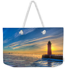 Sunrise Pierhead Weekender Tote Bag