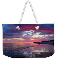 Weekender Tote Bag featuring the photograph Sunrise Sizzle by Dianne Cowen
