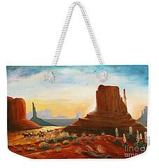 Sunrise Stampede Weekender Tote Bag by Marilyn Smith