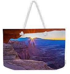 Sunrise Through Mesa Arch Weekender Tote Bag
