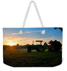 Sunrise Tractor Weekender Tote Bag