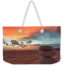 Weekender Tote Bag featuring the photograph Sunrise Zen by Sebastian Musial